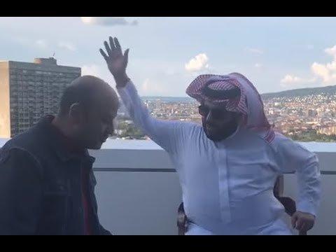 عمرو أديب وتركي الشيخ