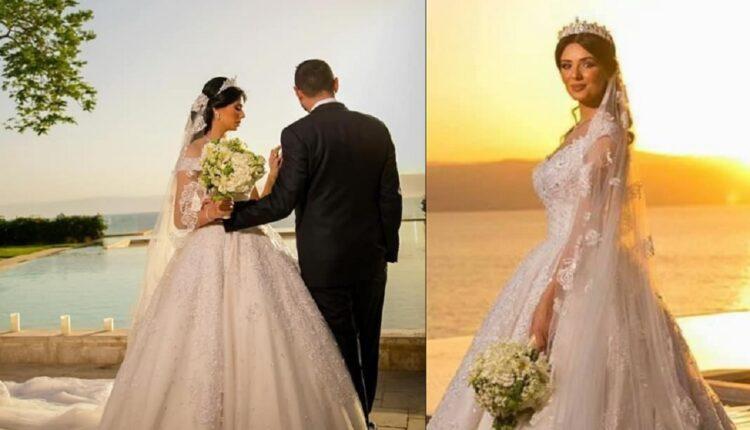 لينا قيشاوي نشرت صور زفافها لكنها لم تكشف هوية العريس