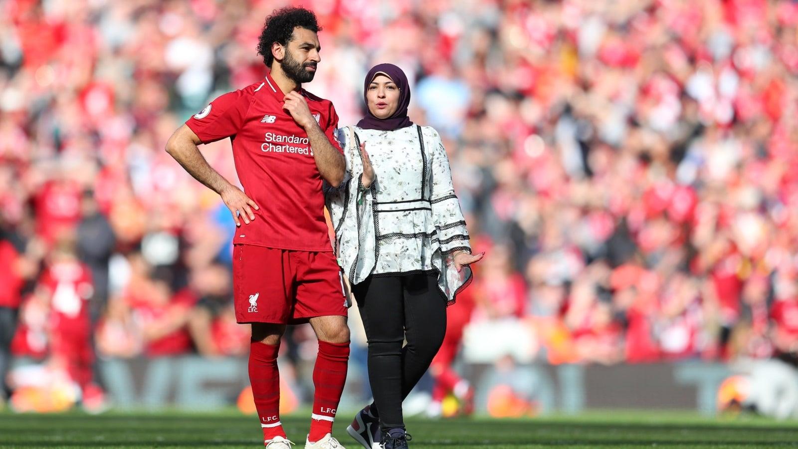 حقيقة انفصال اللاعب محمد صلاح عن زوجته ماجي صادق