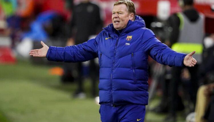 طرد مدرب برشلونة رونالد كومان