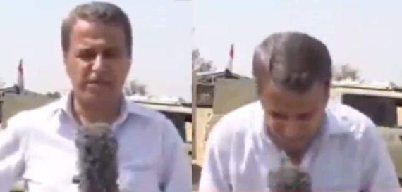 مدير مكتب الجزيرة في العراق ينهار على الهواء