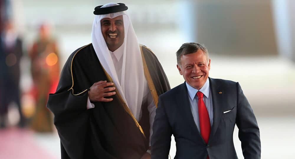 ملك الأردن و أمير قطر