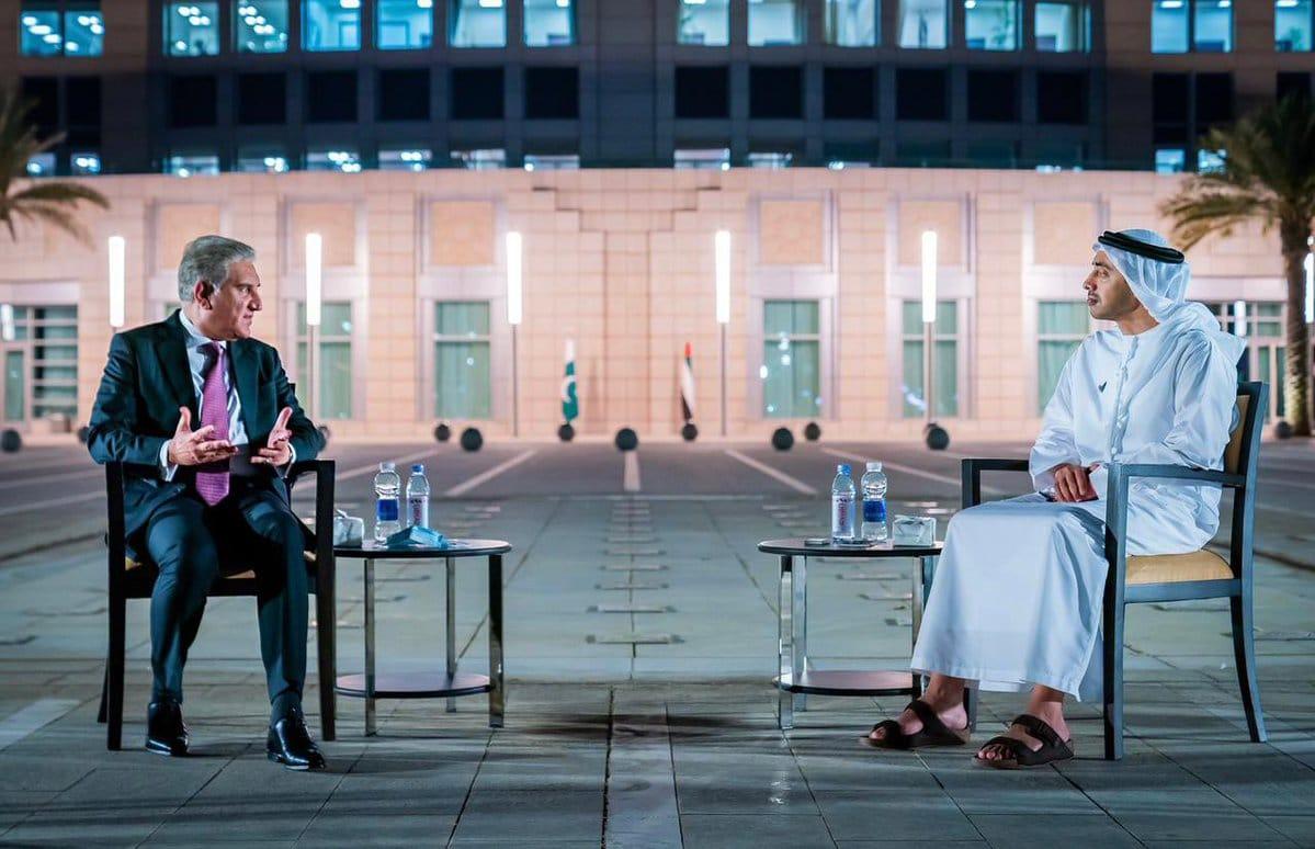 وزير خارجية باكستان ونظيره الاماراتي عبدالله بن زايد