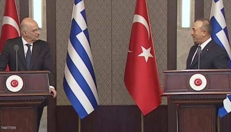 وزير خارجية تركيا ونظيره اليوناني