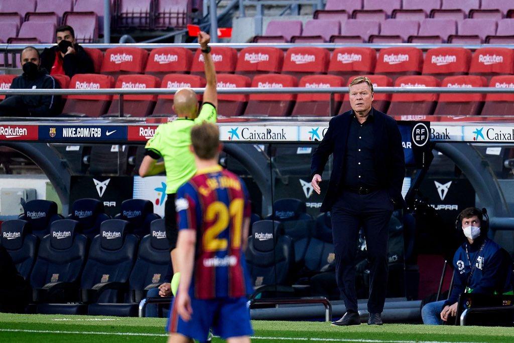 """""""شاهد"""" برشلونة يسقط على ميدانه أمام غرناطة ويفقد الصدارة مع طرد المدرب كومان"""