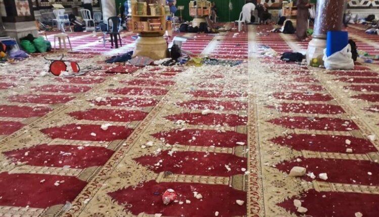 آثار اقتحام قوات الإحتلال المسجد الأقصى