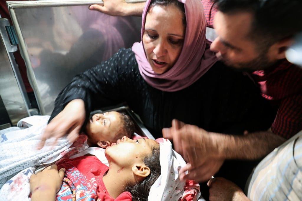 أطفال شهداء ارتقوا بقصف اسرائيلي على غزة