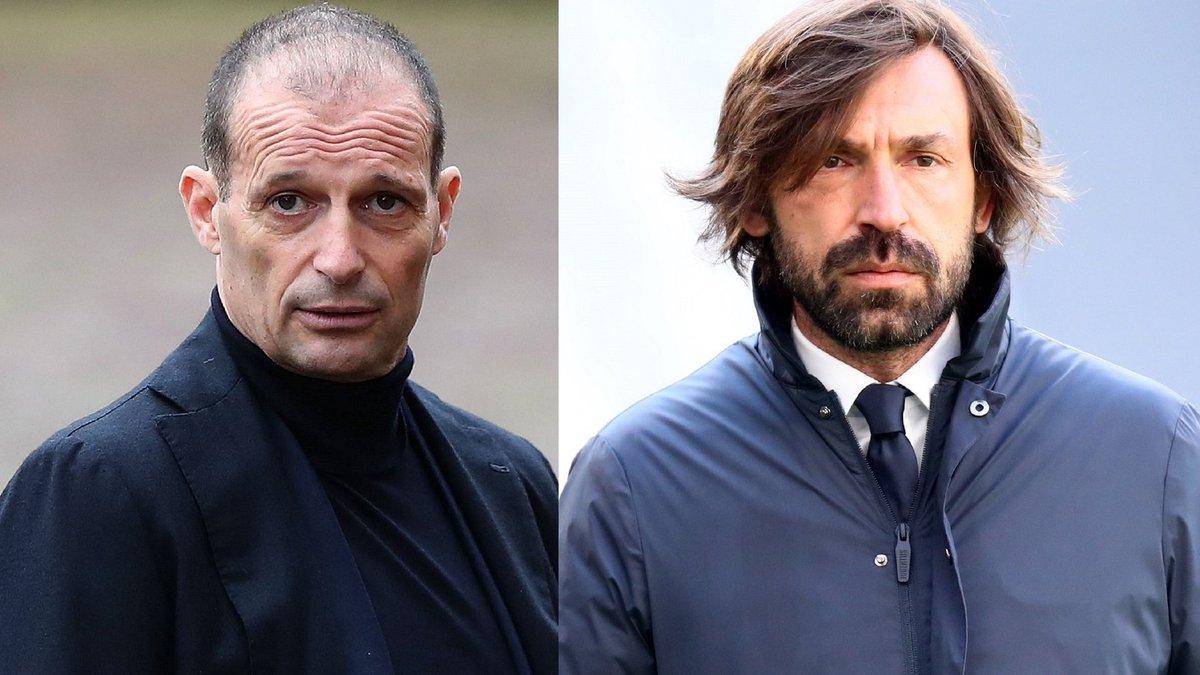 المدرب الإيطالي بيرلو وزميله السابق أليغري