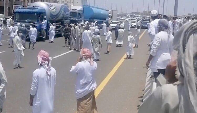 اعمال شغب خلال احتجاجات صحار