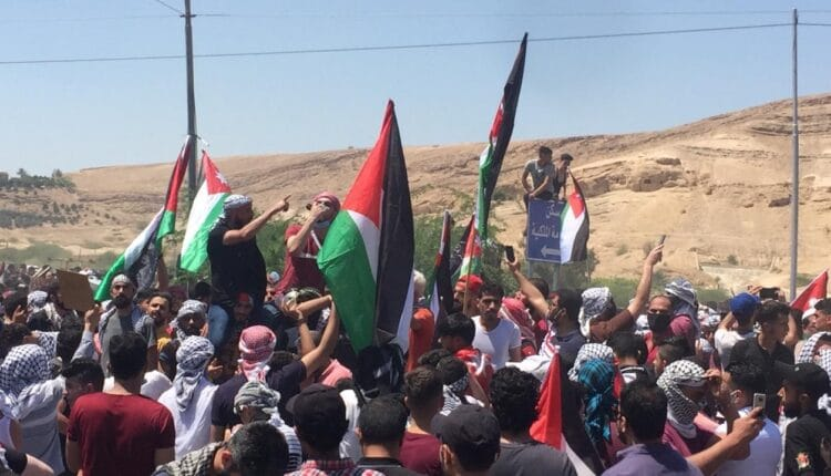 الزحف الأردني نحو فلسطين