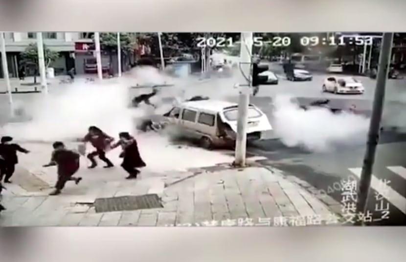 انفجار الارض في ووهان الصينية