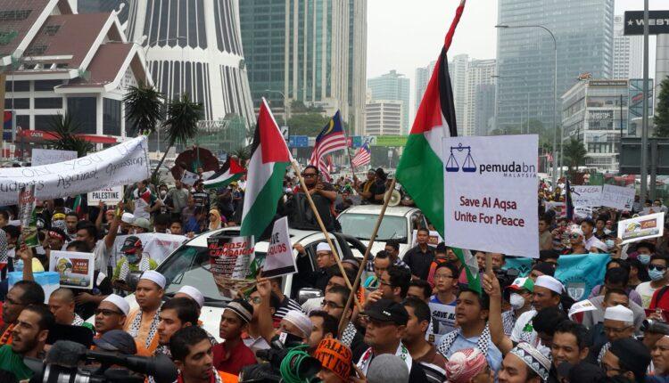 تظاهرة في اندونيسيا لمساندة الفلسطينيين