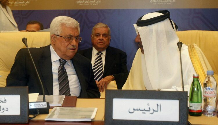 حمد بن جاسم والرئيس الفلسطيني محمود عباس