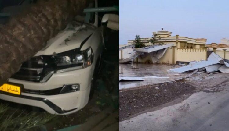 اضرار خلفتها عاصفة رعدية في صحم والخابورة في سلطنة عمان