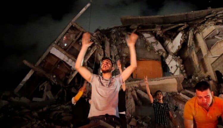 قطاع غزة يحتفلون بوقف اطلاق النار وانتصار المقاومة في غزة