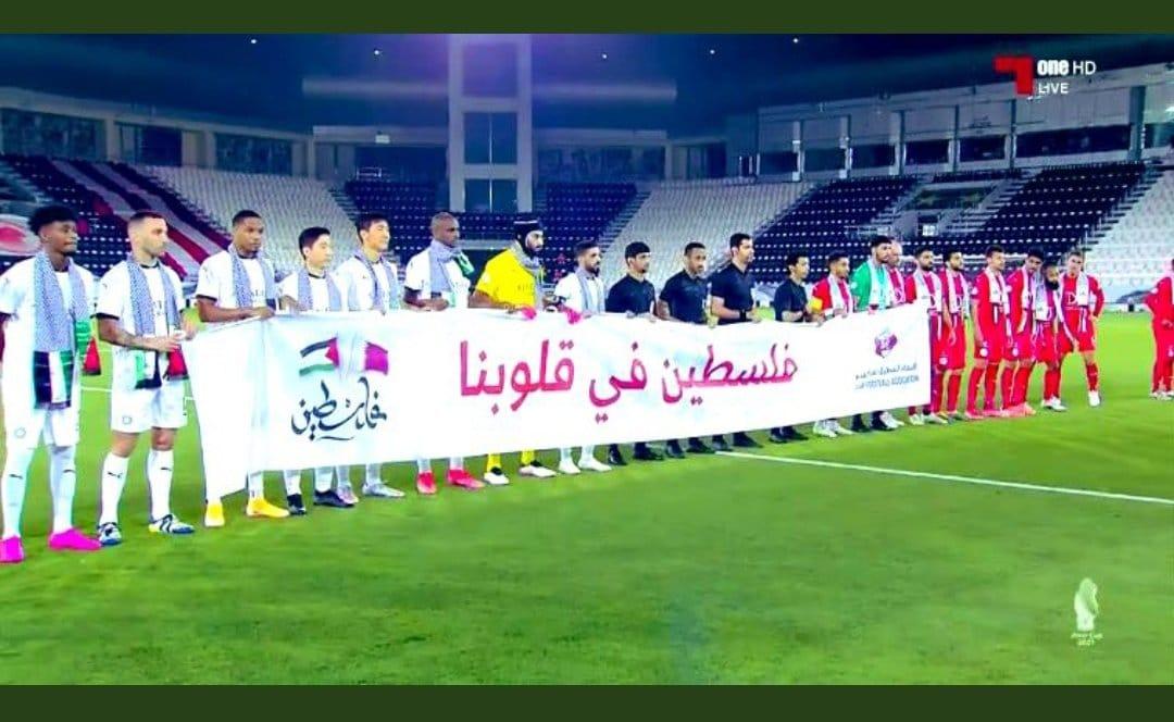 لاعبو السد و العربي يتضامنون مع فلسطين