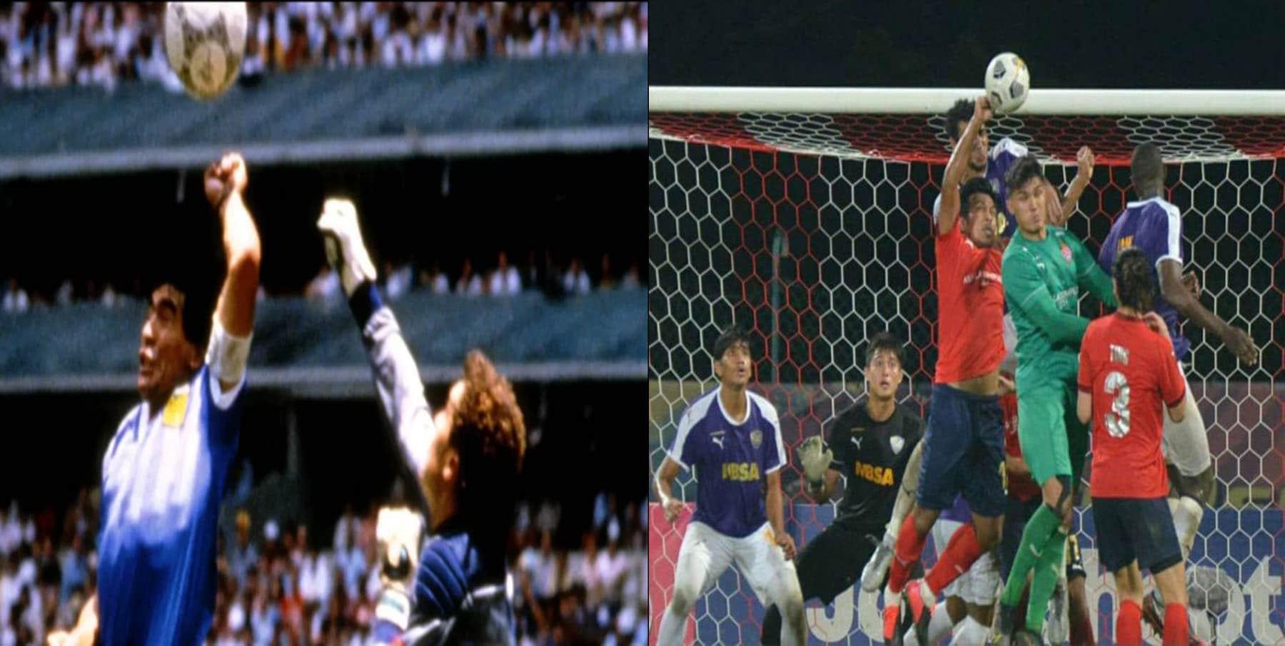 لاعب يعيد ذكريات اللمسة الشهير للأسطورة مارادونا