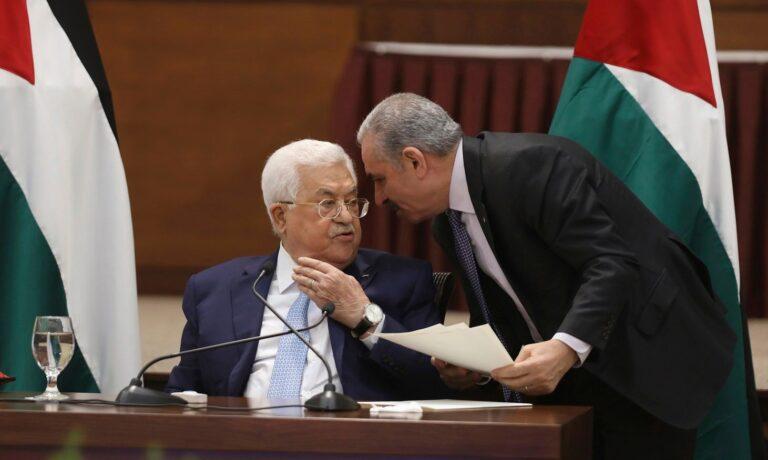 محمود عباس ومحمد اشتيه