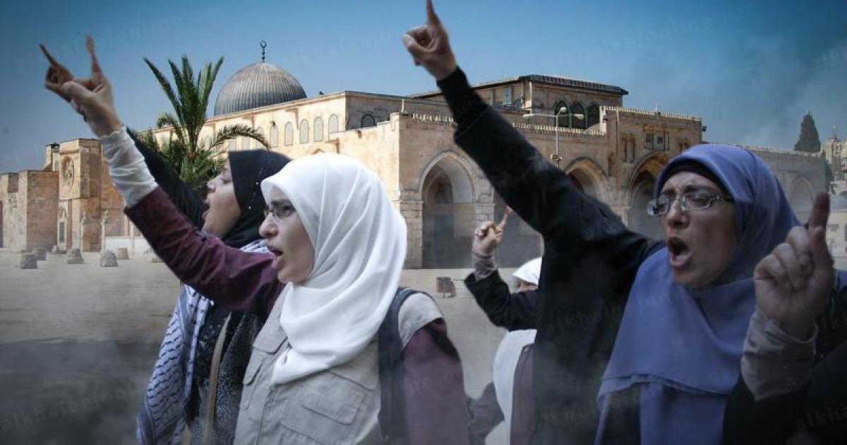 (يلا على غزة روحوا تمرجلوا).. مرابطات في المسجد الأقصى يواجهن جنود الاحتلال