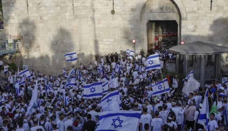 مسيرة رقصة الأعلام تنظم سنوياً في ذكرى ما يسمى يوم توحيد القدس