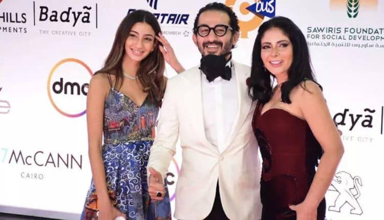 أحمد حلمي وابنته وزوجته