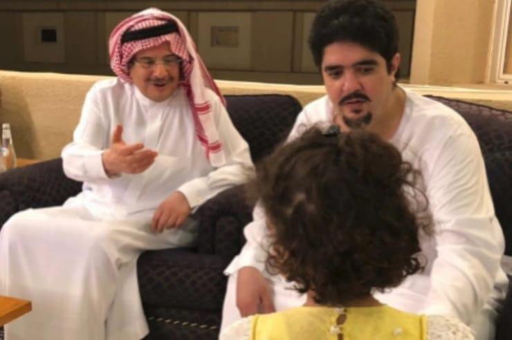 الأمير عبد العزيز بن فهد رفقة أسرته بعد اختفائه لمدة عام