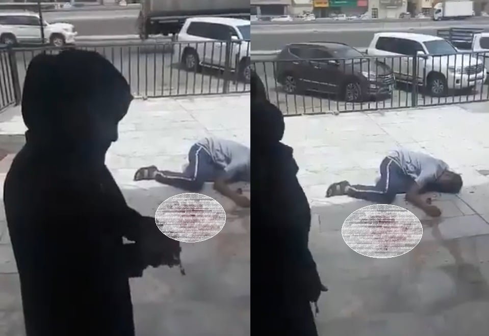 في جدة .. امرأة تطعن شاباً أمام صالون حلاقة وتتركه ينزف!