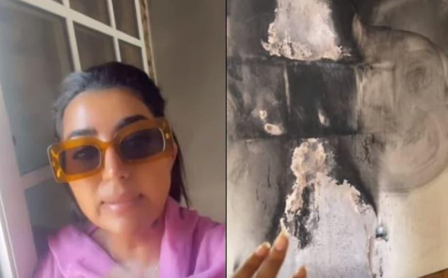 حريق يلتهم منزل العمانية بثينة الرئيسي وموقف الشرطة يثير غضبها! (فيديو)