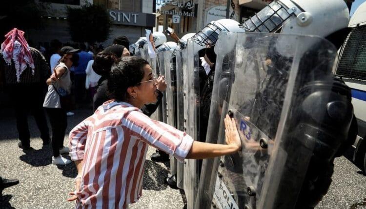 تظاهرة في رام الله منددة باغتيال نزار بنات