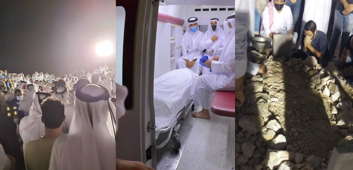 جنازة آلاء الصديق في قطر