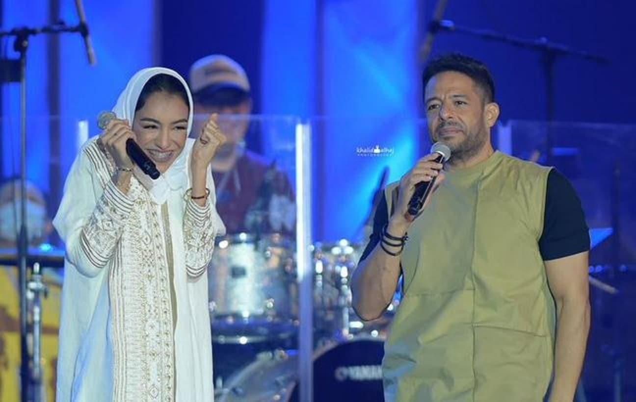 شاهد ماذا فعل محمد حماقي مع السعودية زينة عماد أمام الجمهور وأثار تفاعلاً واسعاً