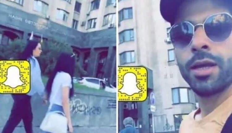 سعودي يتحرش بفتاتين