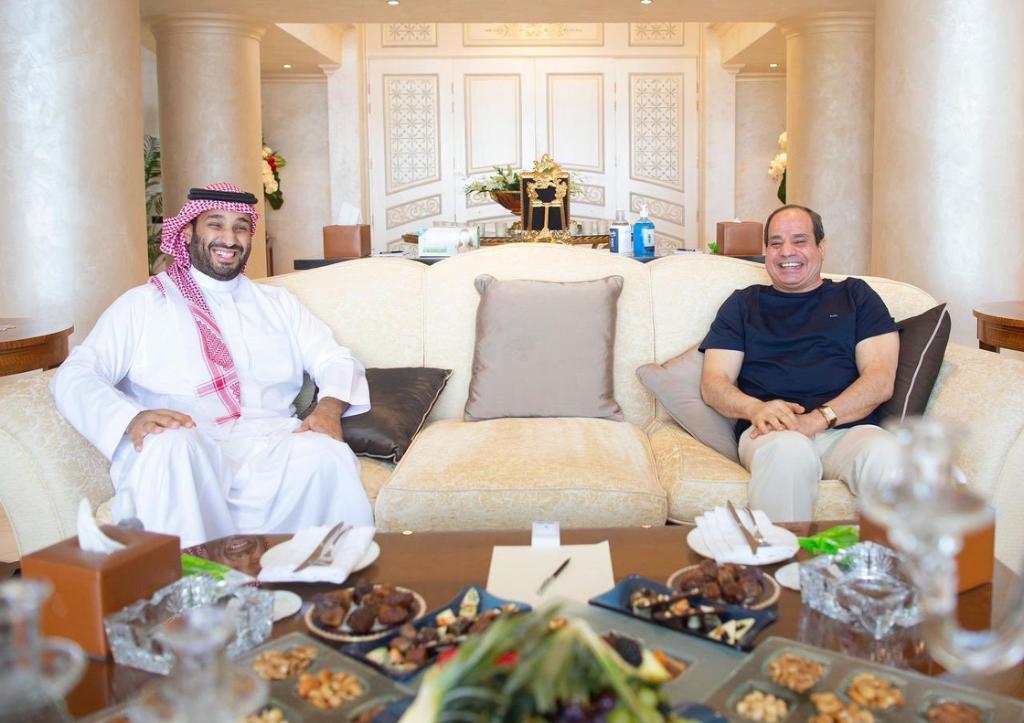 لقاء عبدالفتاح السيسي و محمد بن سلمان في شرم الشيخ
