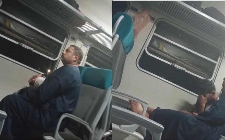 فعل فاضح في قطار يهزّ مصر .. رجل يجبر طفلاً على الرذيلة! (شاهد)