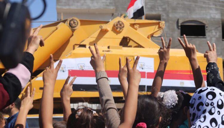 التلفزيون المصري يبث من غزة مباشر