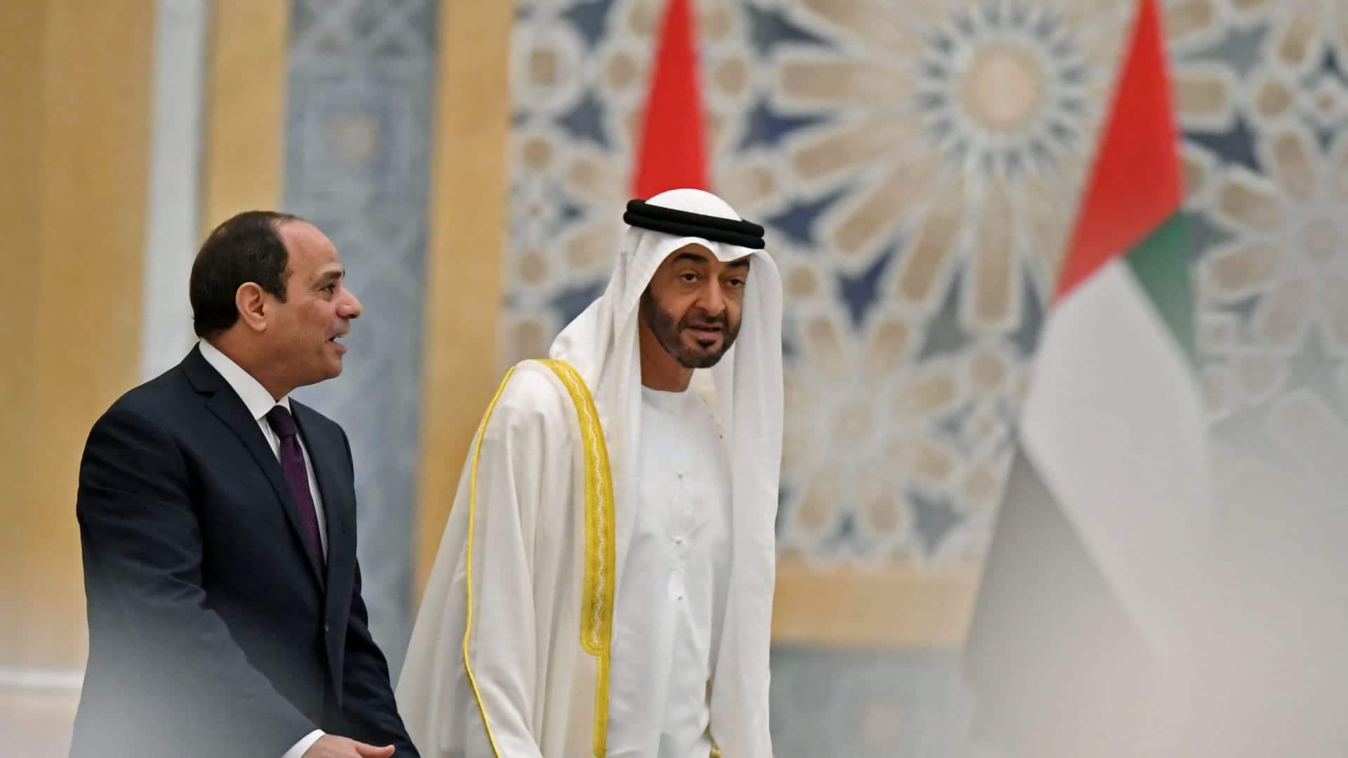 محمد بن زايد وعبدالفتاح السيسي- الإمارات