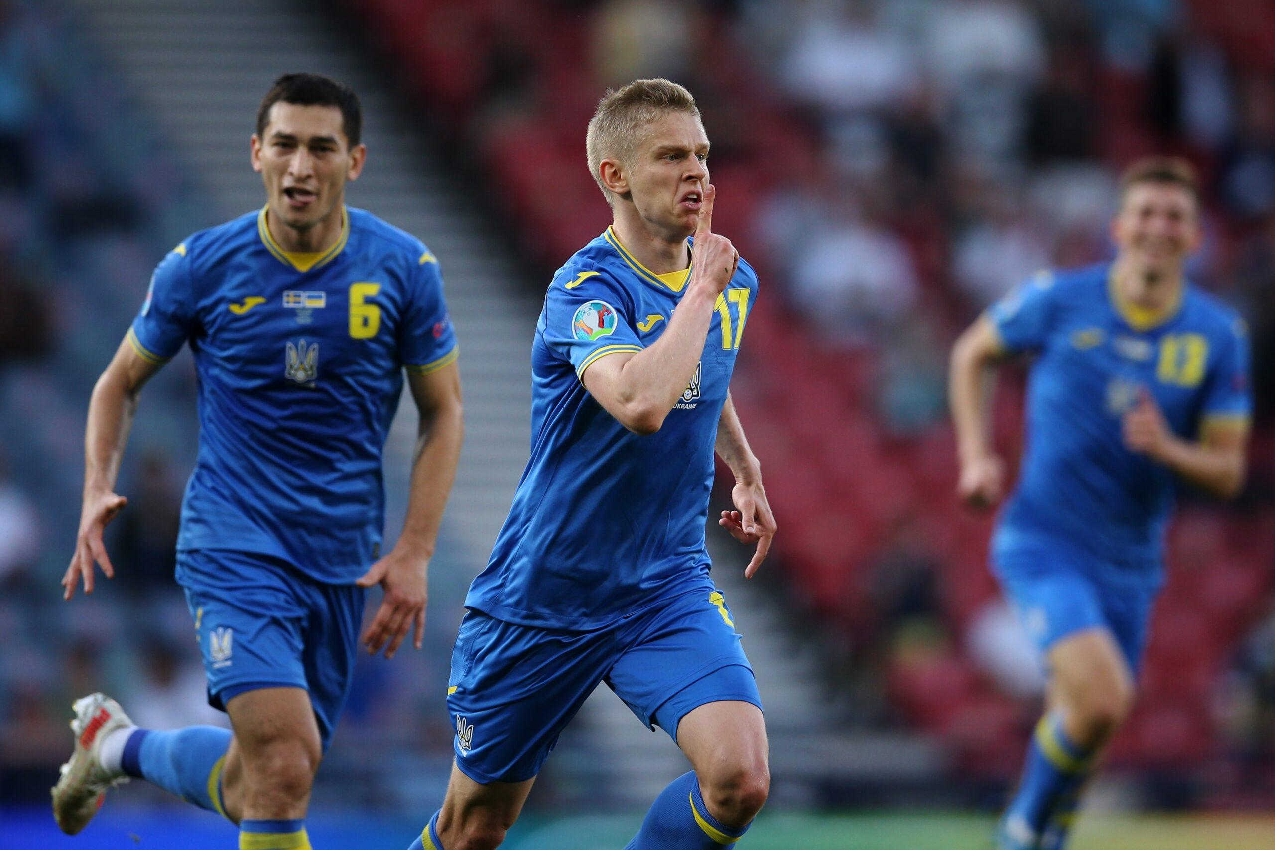 مباراة منتخب أوكرانيا والسويد في اليورو