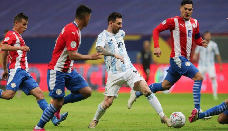 مباراة منتخب الأرجنتين والباراغواوي في بطولة كوبا أمريكا