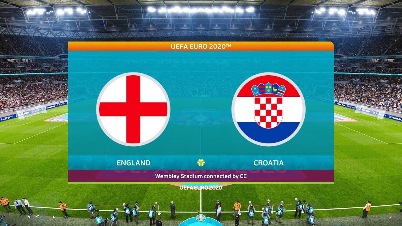 مباراة إنجلترا وكرواتيا في بطولة اليورو