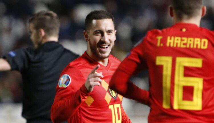 مباراة بلجيكا وروسيا في بطولة اليورو