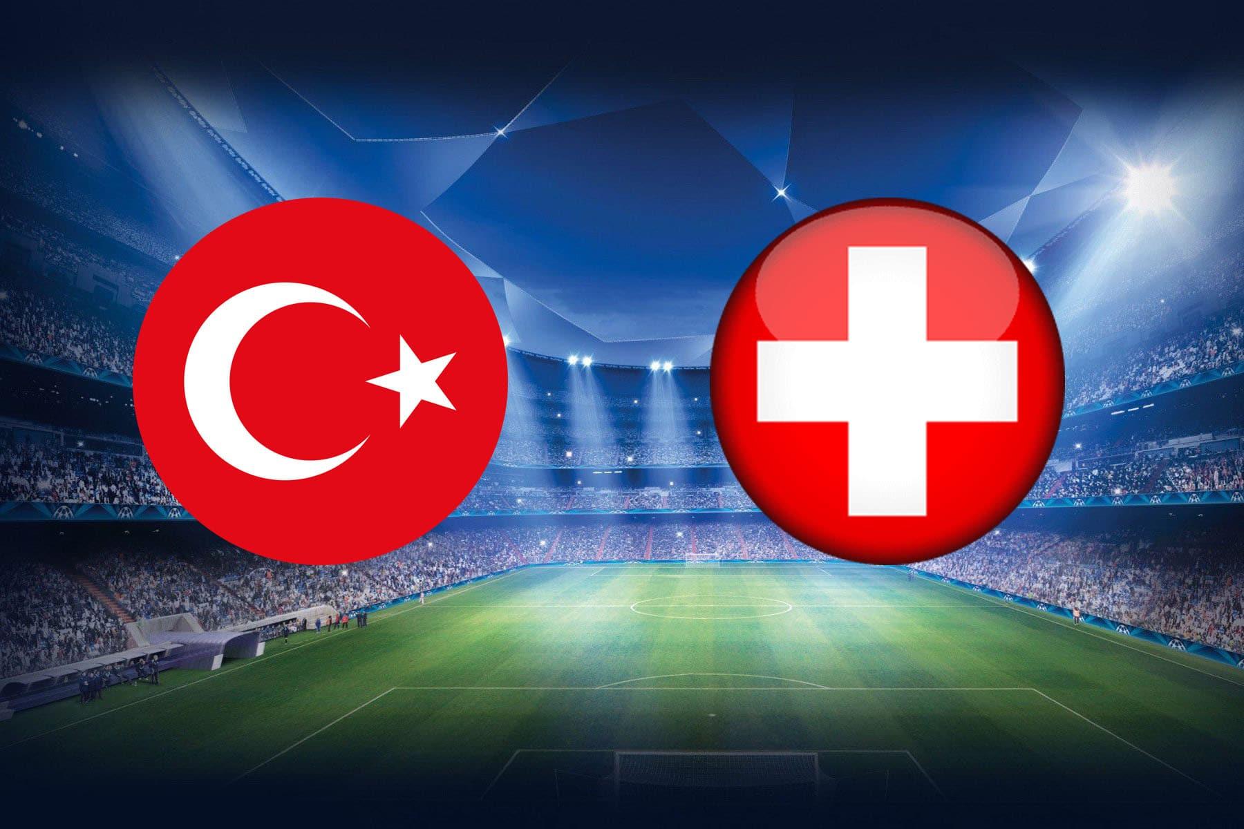 موعد مباراة تركيا وسويسرا اليوم في اليورو والقنوات الناقلة