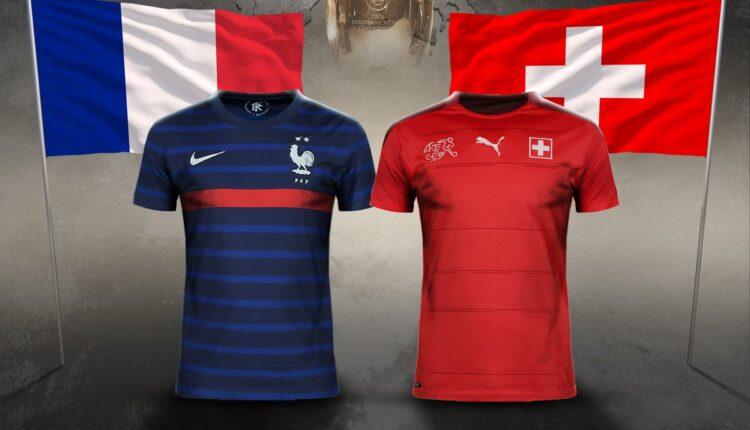 مباراة منتخب فرنسا وسويسرا في بطولة اليورو