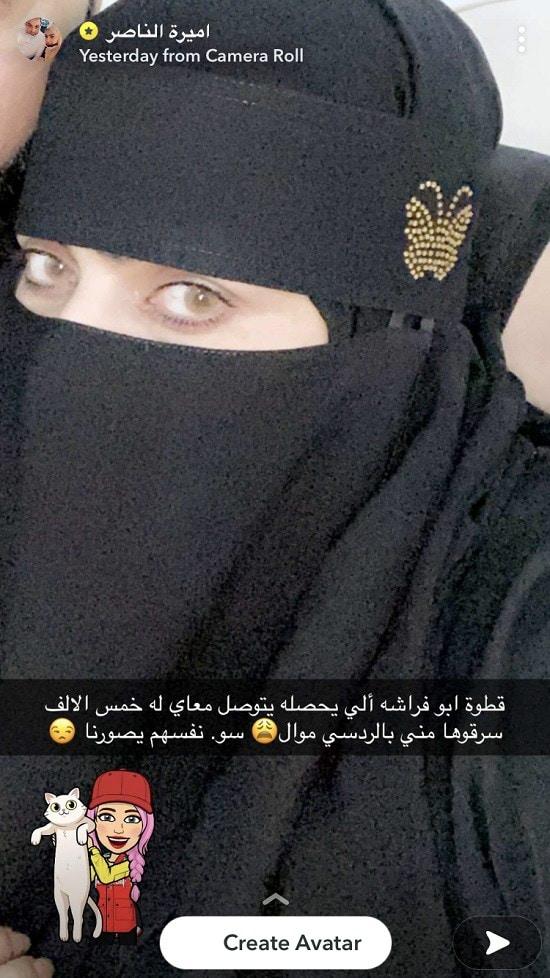 نقاب أميرة الناصر
