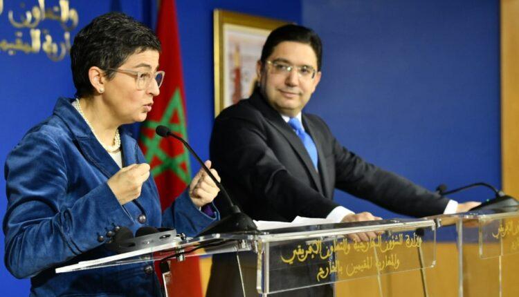 وزيرة خارجية إسبانيا ونظيرها المغربي