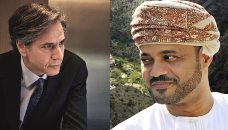 وزير الخارجية العماني بدر بن حمد بن حمود البوسعيدي يتلقى اتصالا من أنتوني بلينكن وزير الخارجية الأمريكية