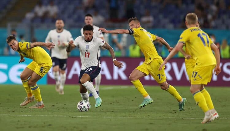 مباراة منتخب إنجلترا وأوكرانيا في اليورو