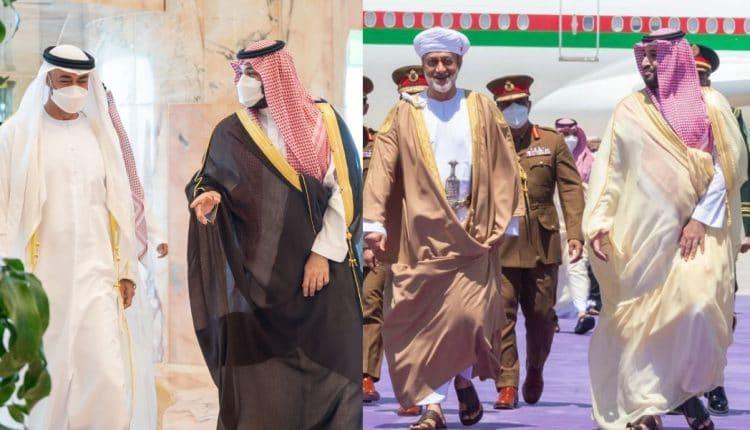 نشطاء يقارنون استقبال محمد بن سلمان لمحمد بن زايد والسلطان هيثم بن طارق