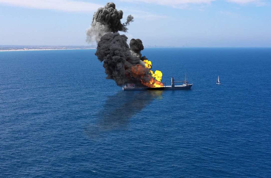 وزارة الدفاع البريطانية تتحدث عن تعرض سفينة اسرائيلية لهجوم قبالة ساحل عُمان في بحر العرب