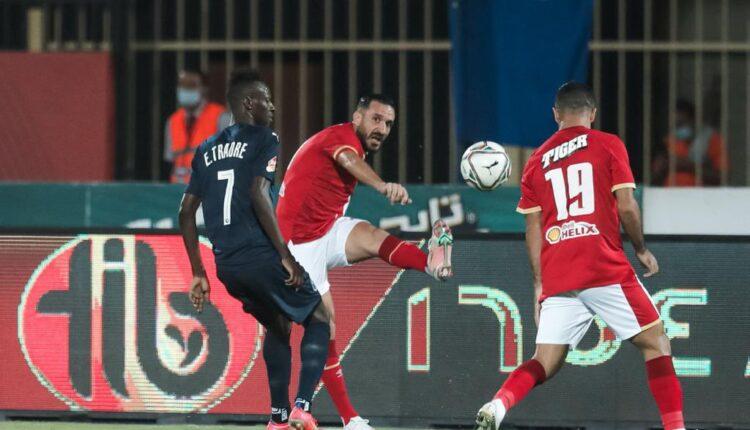 مباراة فريق الأهلي وبيراميدز في الدوري المصري