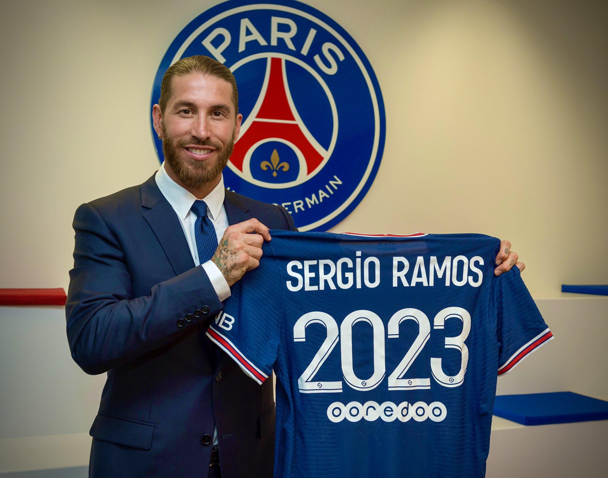 سيرخيو راموس والتغريده الأولى بعد الانضمام إلى باريس سان جيرمان